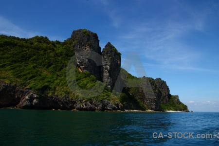 Sky water phi island sea limestone.