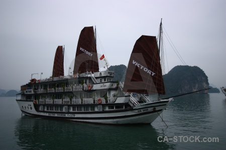Sky water sea vinh ha long southeast asia.