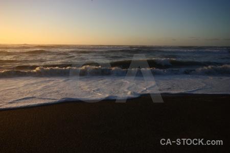 Sky water sunrise sea punakaiki.