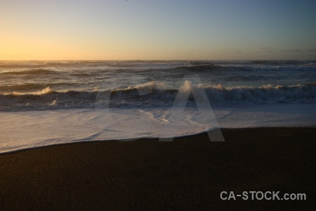 Sky water sunrise wave south island.