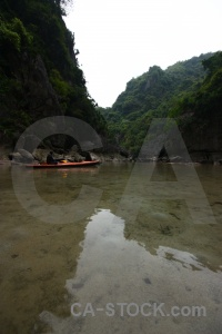 Sky water vietnam canoe limestone.