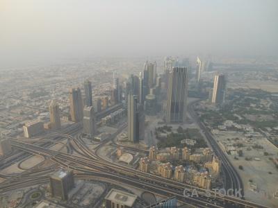 Skyscraper asia western burj khalifa aerial.
