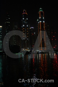 Skyscraper reflection middle east building dubai.