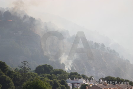 Smoke fire montgo javea spain.
