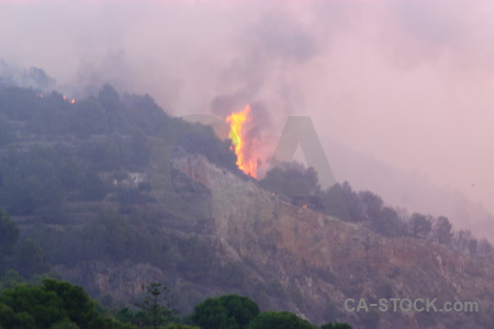 Smoke firefighting javea fire montgo.