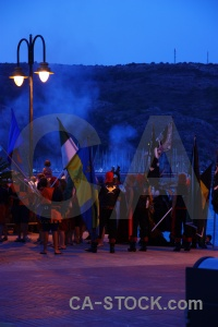 Smoke flag sky costume javea.