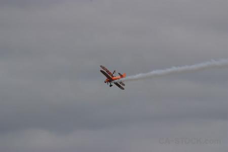 Smoke gray airplane.