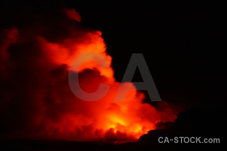 Smoke lava black fire orange.