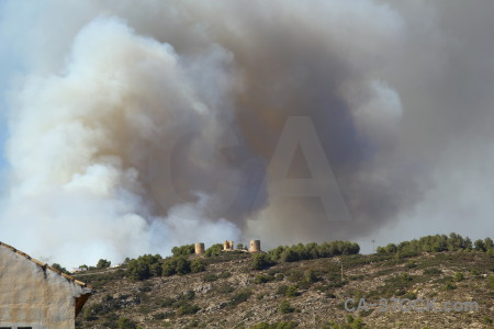 Smoke spain montgo fire europe javea.