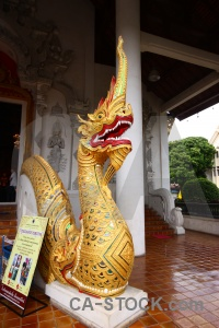 Snake southeast asia ornate pillar serpent.