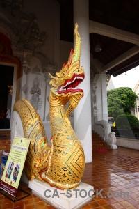 Snake southeast asia ornate pillar serpent.