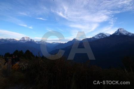 Snow annapurna sanctuary trek sky tukche peak snowcap.