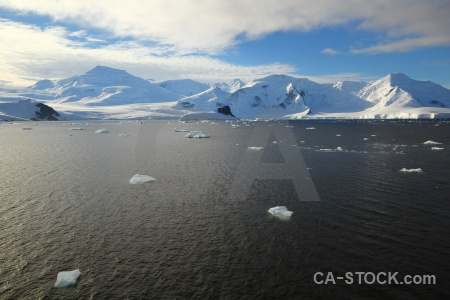 Snow antarctic peninsula antarctica cruise adelaide island sea.
