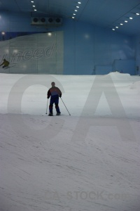 Snow middle east dubai person skiing.