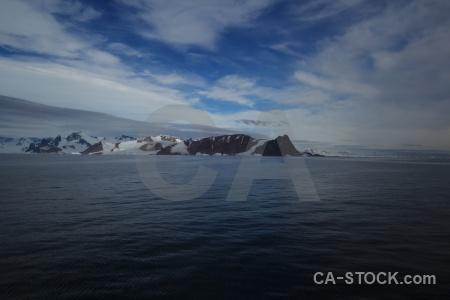 Snow mountain sea snowcap south pole.