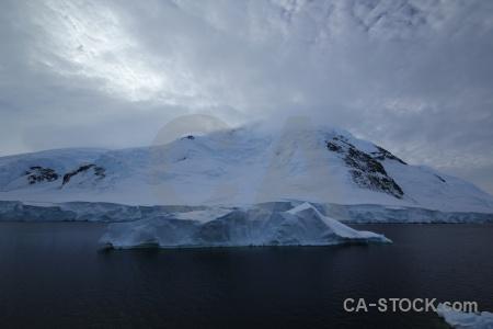 Snow mountain south pole iceberg adelaide island.