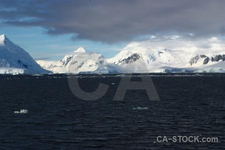 Snow mountain water antarctic peninsula south pole.