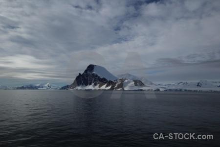 Snow sky antarctica mountain snowcap.