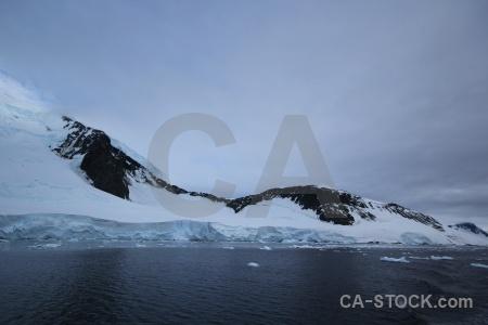 Snowcap adelaide island antarctic peninsula snow ice.