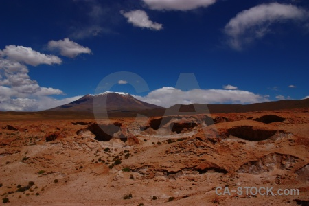 Snowcap altitude rock bolivia mountain.