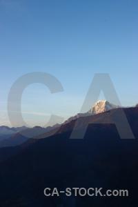 Snowcap annapurna sanctuary trek himalayan sky nepal.