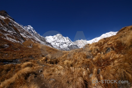 Snowcap annapurna south mountain sanctuary trek sky.