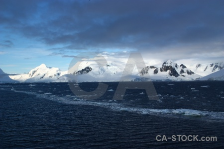 Snowcap cloud adelaide island antarctica sky.