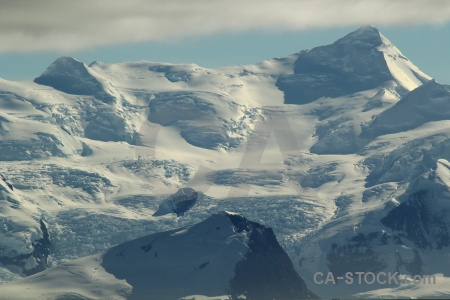 Snowcap cloud south pole adelaide island antarctica cruise.