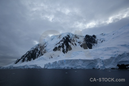Snowcap gunnel channel antarctic peninsula cloud ice.