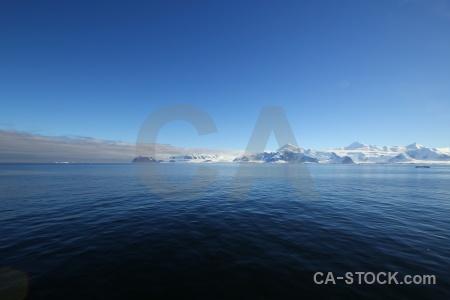 Snowcap ice landscape antarctica adelaide island.