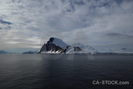 Snowcap ice water antarctic peninsula mountain.