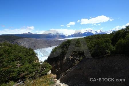 Snowcap mountain chile trek glacier.