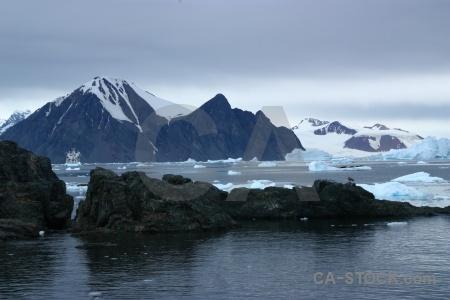 Snowcap sky ice antarctic peninsula akademik ioffe.