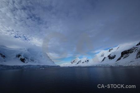 Snowcap snow mountain day 6 antarctica cruise.
