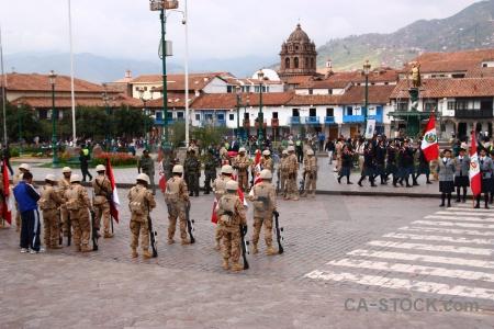 Soldier peru cuzco cusco unesco.