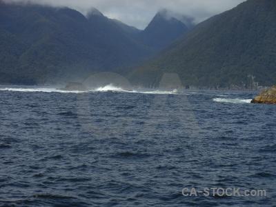 Sound mountain south island fiordland rock.