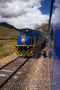 South america andean explorer train track altitude.