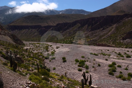 South america andes valley river bed salta tour.
