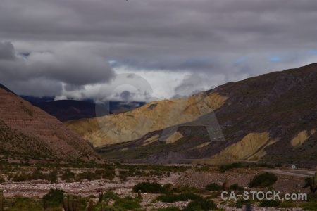 South america argentina landscape salta tour river bed.