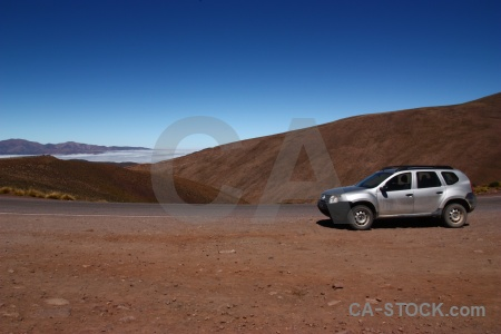 South america argentina salta tour car altitude.