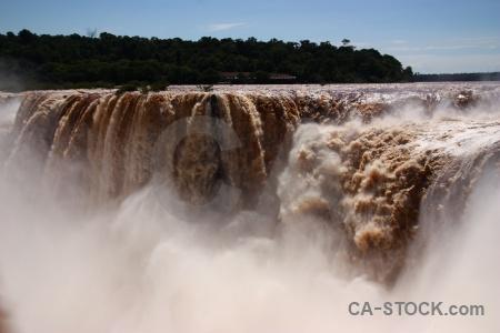 South america argentina water iguassu falls sky.