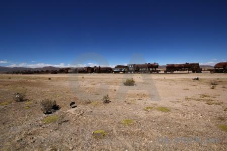 South america bolivia sky train cemetery wreck.