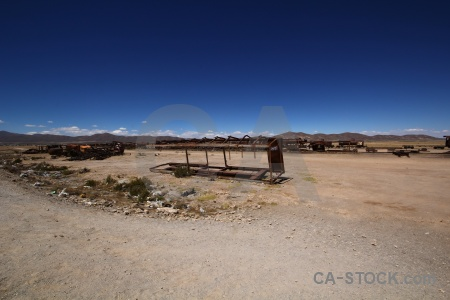South america bolivia train landscape cemetery.