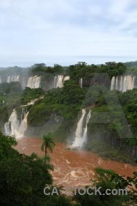 South america brazil iguacu falls river iguazu.