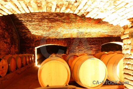 South america brick santiago vineyard barrel.