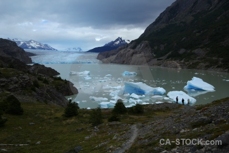 South america circuit trek glacier grey chile torres del paine.