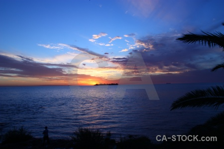 South america colonia del sacramento sky uruguay sunset.