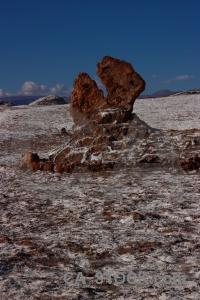 South america cordillera de la sal mountain san pedro atacama desert.