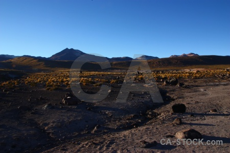South america el tatio chile landscape andes.
