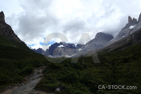 South america french valley chile trek circuit.